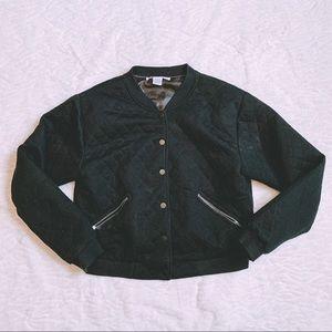 Bomber Jacket with Diamond Pattern